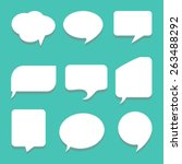 message icons set great for any ... | Shutterstock .eps vector #263488292