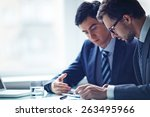 two confident businessmen... | Shutterstock . vector #263495966