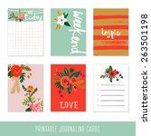 set of 6 creative journaling... | Shutterstock .eps vector #263501198