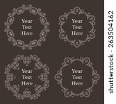 vector ornate decorated vintage ... | Shutterstock .eps vector #263504162