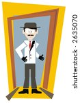 cartoon man in white coat and... | Shutterstock .eps vector #2635070