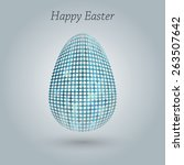 happy easter greeting banner.... | Shutterstock .eps vector #263507642
