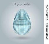 happy easter greeting banner.... | Shutterstock .eps vector #263507642