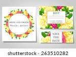 wedding invitation cards with... | Shutterstock .eps vector #263510282