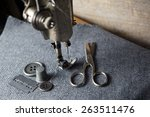 sewing machine with sewing... | Shutterstock . vector #263511476