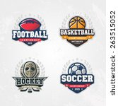 sport logo set for four sport... | Shutterstock .eps vector #263515052