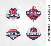 basketball championship logo set | Shutterstock .eps vector #263515106
