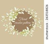 circular floral pattern hand... | Shutterstock .eps vector #263518826