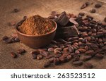 Raw Cocoa Beans  Clay Bowl ...