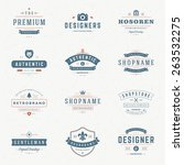 retro vintage insignias or... | Shutterstock .eps vector #263532275