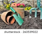 Gardening Tools In The Ground...