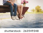 Stock photo fashionable cool couple legs lifestyle concept 263549348
