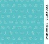 school line icon pattern set | Shutterstock .eps vector #263550056