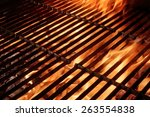 empty hot barbecue grill with... | Shutterstock . vector #263554838