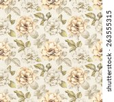 seamless pattern with pencil... | Shutterstock . vector #263555315