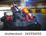 businessman enjoying kart racing | Shutterstock . vector #263556032