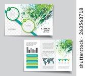 brochure design   Shutterstock .eps vector #263563718