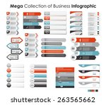 collection of infographic... | Shutterstock .eps vector #263565662