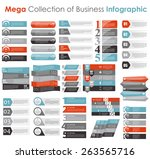 collection of infographic... | Shutterstock .eps vector #263565716