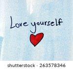 love yourself | Shutterstock . vector #263578346