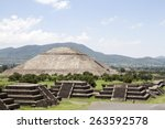 teotihuacan pyramids | Shutterstock . vector #263592578