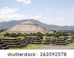 teotihuacan pyramids | Shutterstock . vector #263592578