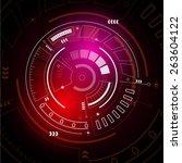 sci fi futuristic user...   Shutterstock .eps vector #263604122
