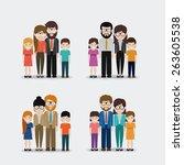 family design over white... | Shutterstock .eps vector #263605538