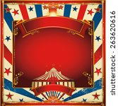 nice vintage circus background... | Shutterstock .eps vector #263620616