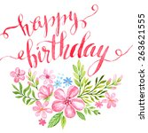 Lettering Happy Birthday Hand...