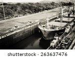 oil tanker  assisted by... | Shutterstock . vector #263637476