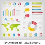 colorful infographics elements. ... | Shutterstock .eps vector #263639042