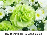 White and green flowers...