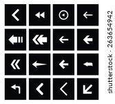 dark background back icon set | Shutterstock .eps vector #263654942