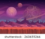alien fantastic landscape ... | Shutterstock .eps vector #263655266