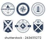set of nautical logos  badges...   Shutterstock .eps vector #263655272