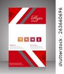 flyer brochure template. vector | Shutterstock .eps vector #263660696