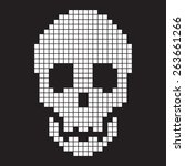 pixel scull  old computer...