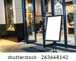 empty sign in the street and... | Shutterstock . vector #263668142
