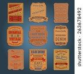 original vintage blue raw jeans ... | Shutterstock .eps vector #263678492