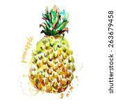 pineapple | Shutterstock .eps vector #263679458