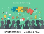 business people group over... | Shutterstock .eps vector #263681762