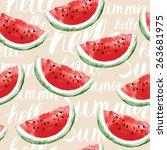 watercolor seamless pattern... | Shutterstock .eps vector #263681975