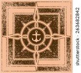 vintage nautical labels | Shutterstock .eps vector #263682842