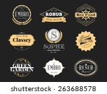 set of retro vintage badges and ...   Shutterstock .eps vector #263688578