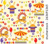 seamless pattern with cute... | Shutterstock . vector #263691365