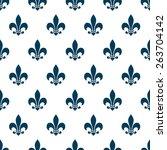 fleur de lis seamless pattern.... | Shutterstock . vector #263704142