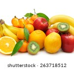 Collection Fruit Isolated On A...