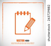 vector checklist icon | Shutterstock .eps vector #263729882