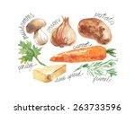 veg set | Shutterstock .eps vector #263733596